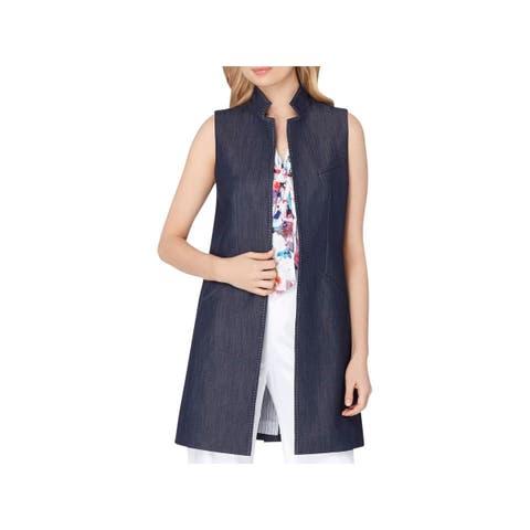 Tahari ASL Womens Vest Stitched Long - 10