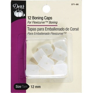 Clear - Dritz Silicone Sew-In Boning Caps 12/Pkg