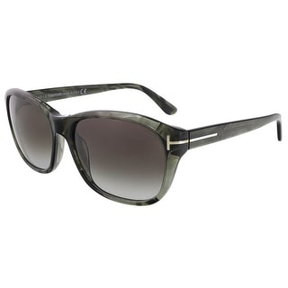 Tom Ford FT0396/S 20B London Olive Horn Rectangle