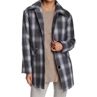 Pendleton NEW Gray Plaid Check Women's Size Small S Basic Coat Wool