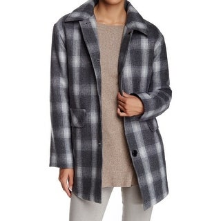 Pendleton NEW Gray Plaid Women's Size Small S Button-Front Coat Wool