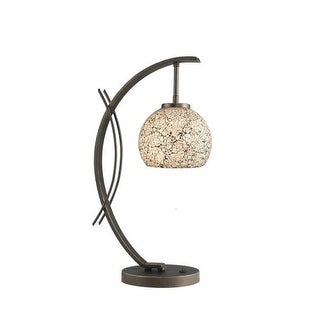 Woodbridge Lighting 13481MEB-M00WHT 1 Light Table Lamp from the Eclipse Collecti