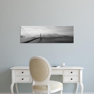 Easy Art Prints Panoramic Images's 'Golden Gate Bridge and Fog San Francisco CA' Premium Canvas Art