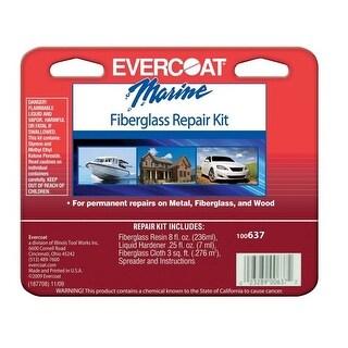 Evercoat 100637 Polyester Resin Fiberglass Repair Kit, 1/2 Pint