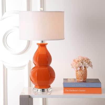 "SAFAVIEH Lighting 28-inch Juniper Light Orange Lamp - 16""x16""x30"""