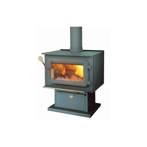 Flame FL-043 60000 BTU Free Standing 1.8 Cubic Ft Wood Burning Stove From the XT - Black - N/A