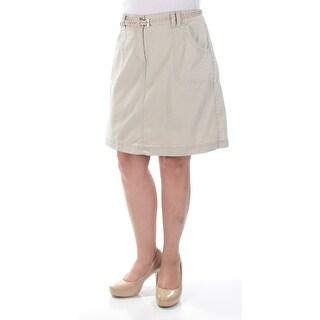 KAREN SCOTT $43 Womens New 1429 Beige Pencil Casual Skirt 10 B+B