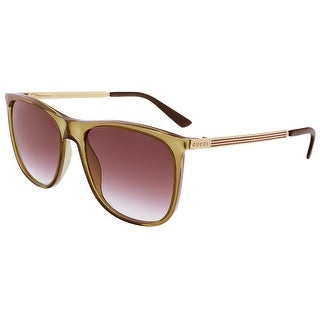 Gucci GG1129/S VKN Khaki Gold Square Sunglasses