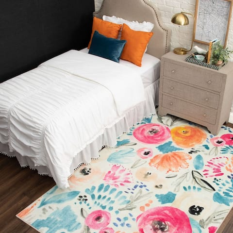 Mohawk Home Abstract Floral Watercolor Area Rug