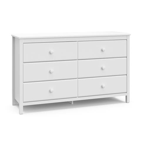 Storkcaft Alpine 6 Drawer Dresser - 6 drawers Dresser with Handles, Coordinates with Any Kids Bedroom or Baby Nursery