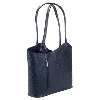 HS3005 PHOEBE Navy Blue Leather Hobo Shoulder  Bag - Navy Blue - 12-10-3.5