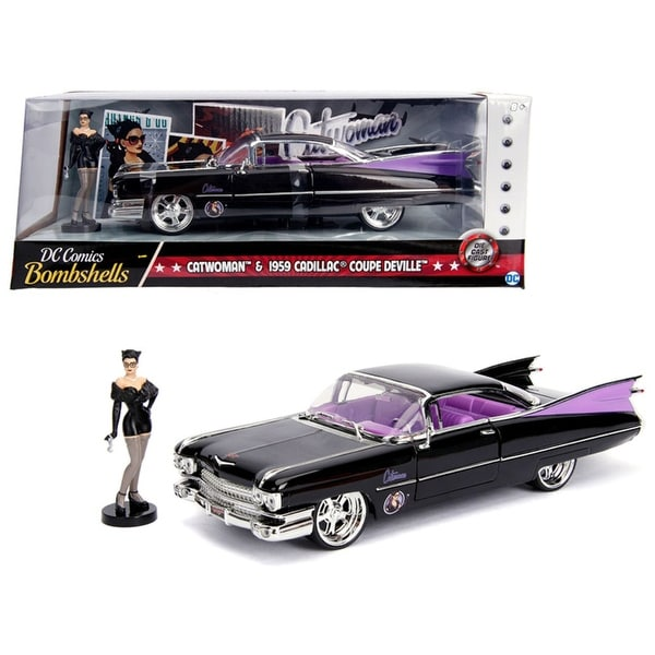 Shop 1959 Cadillac Coupe DeVille Black With Catwoman