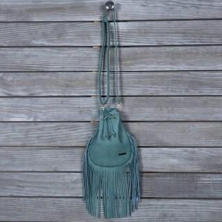 Mad Style Blue Fringed Bota Bag