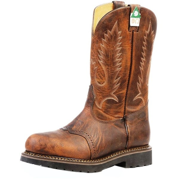 Boulet Work Boots Mens Leather ST Lenzi Laid Back Tan Spice