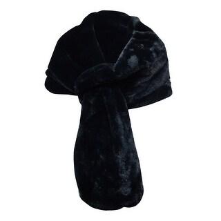 S.L. Fashions New York Women's Faux Fur Loop Shawl - Black - os