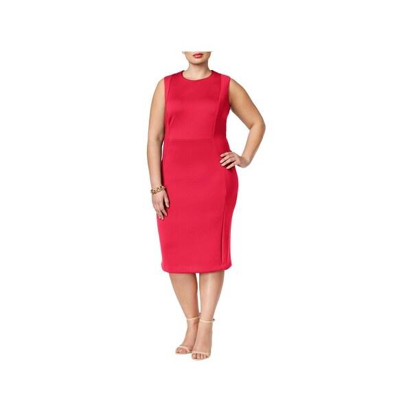 Shop Calvin Klein Womens Plus Wear To Work Dress Scuba