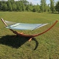 Sunnydaze Wooden Curved Arc Hammock & Hammock Stand, 13 Feet Long, 400 Pound Capacity - Thumbnail 13