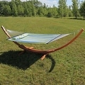 Sunnydaze Wooden Curved Arc Hammock Stand - Thumbnail 31
