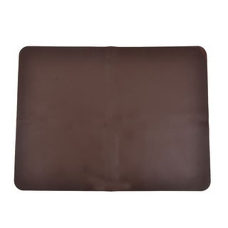Dining Table Silicone Rectangle Cup Pot Pan Pad Heat Resistant Mat Coffee Color