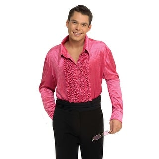 Rubies Velvet Disco Shirt (Pink) - Pink (3 options available)