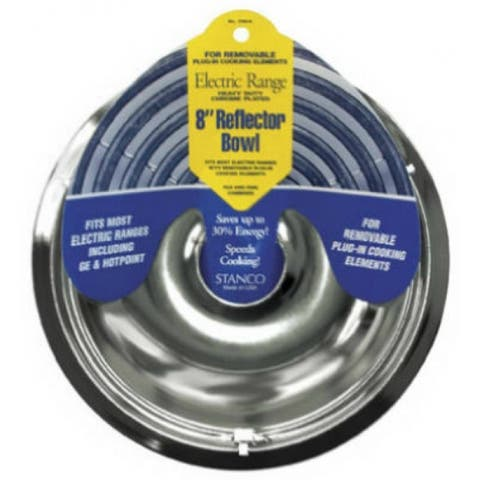 Stanco 700-8 Reflector Bowl For Removable Electric Ranges, Chrome Plated, 8""
