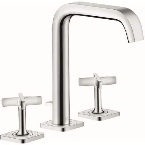 Axor 36108 Citterio E 1.2 GPM Widespread Bathroom Faucet with Drain Assembly - Engineered in Germany, Limited Lifetime Warranty