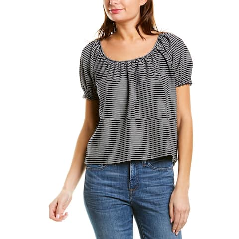 Madewell Textured Peasant Blouse