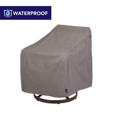 Modern Leisure Garrison Waterproof Outdoor Patio Swivel Chair Cover (37.5 W x 39.25 D x 38.5 H) Heather Gray, Model 2997