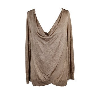 Inc International Concepts Gold Draped Metallic Sweater Top XL