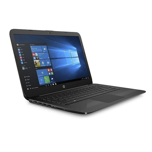 "HP Stream 14"" Jet Black Laptop Intel Celeron N3060 Processor, 4GB RAM, 32GB eMMC Storage Windows 10 Home (Certified Refurbished)"