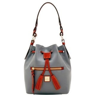 Dooney & Bourke Wexford Leather Small Logan Drawstring (Introduced by Dooney & Bourke at $268 in Jun 2017) - charcoal