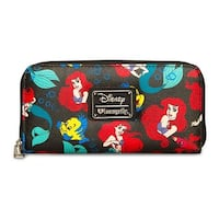 Loungefly Disney Little Mermaid Classic Pebble Wallet - One Size Fits most