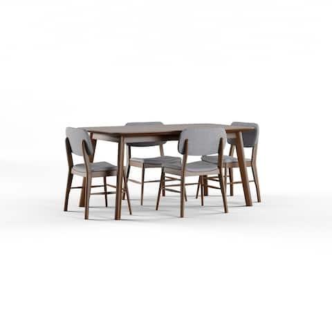 Carson Carrington Kemi Mid-century 5-piece Wood Large Rectangular Dining Set