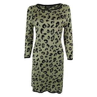 Spense Women's Animal Print Sweater Dress