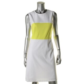 Marc New York Womens Ponte Colorblock Wear to Work Dress - 14