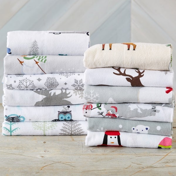 Home Fashion Designs Super Soft Printed Turkish Cotton Flannel Bed Sheet Set. Opens flyout.
