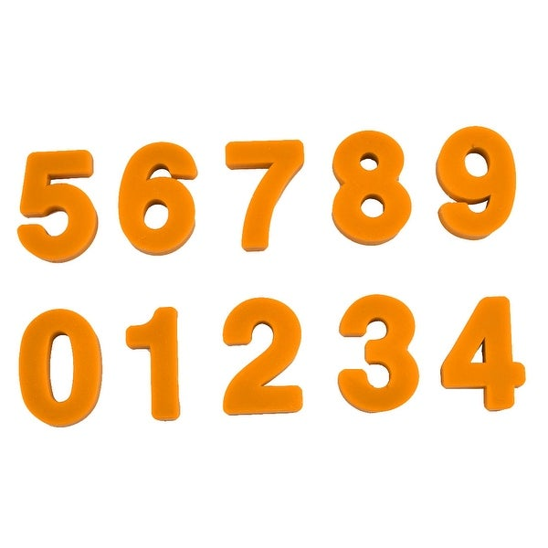 Household Fridge Blackboard Plastic Number Design Magnet Orange Set