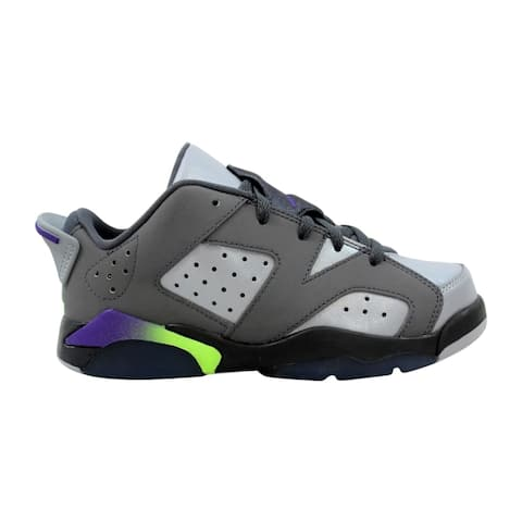 Nike Pre-School Air Jordan VI 6 Retro GP Dark Grey/Ultraviolet-Wolf Grey-Ghost Green 768884-008