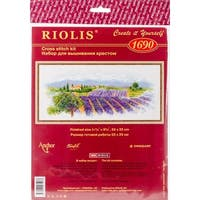 """Blooming Provence (14 Count) - Riolis Counted Cross Stitch Kit 21.75""""X9.75"""""""