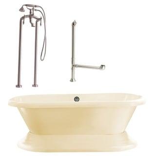 "Giagni LW2 Wescott 70-4/5"" Free Standing Soaking Tub Package - Includes Tub, Tub"