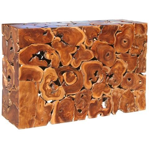 Chic Teak Rustic Teak Wood Akar Console Table