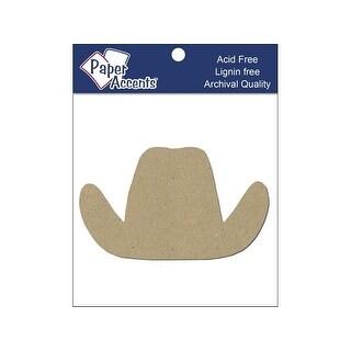 Chip Shape 8pc Cowboy Hat Natural