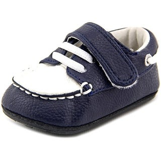 Jack and Lily My Mocs Infant Round Toe Leather Blue Flats