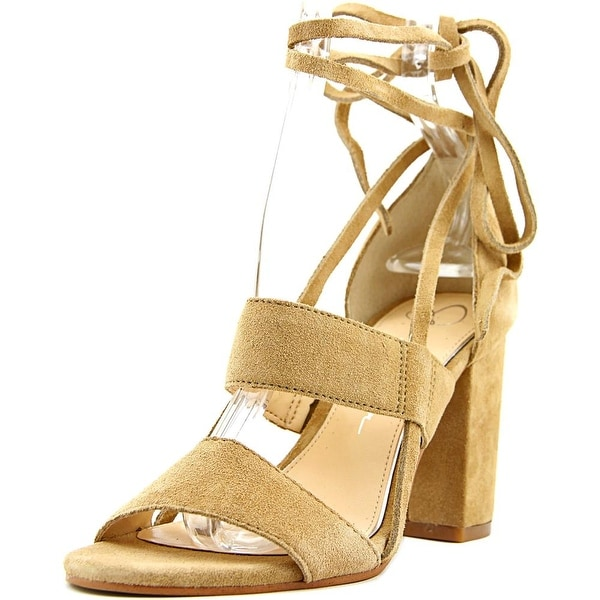 Jessica Simpson Harphor Women Open Toe Leather Tan Sandals