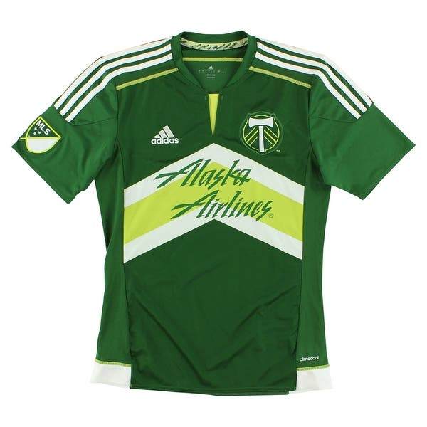 detailing 21270 be5ed Adidas Mens Portland Timbers Home MLS Replica Jersey Green -  green/white/light green - S