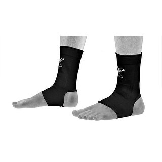 Ankle Supports Muay Thai Compression Kick Boxing Wraps Gym Socks AB1 - Black