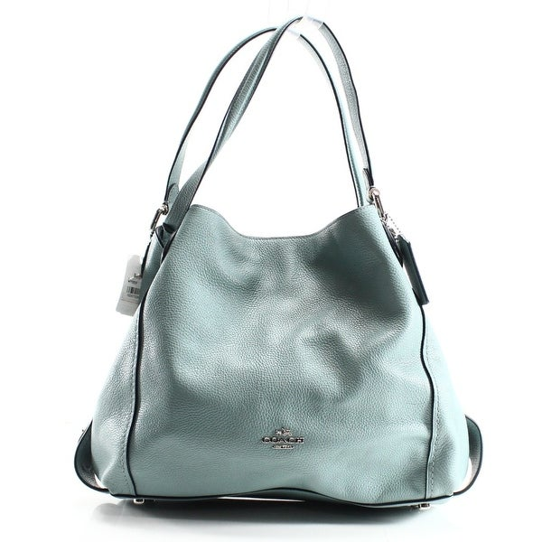 a6cc58a0b247 ... new zealand coach new blue cloud silver polished leather edie 31  shoulder bag purse c1570 be977