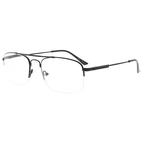 Eyekepper Half-Rim Reading Glasses Memory Titanium Bendable Readers