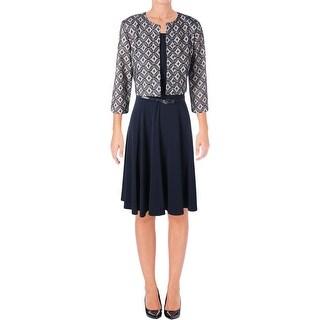 Jessica Howard Womens Dress With Cardigan Printed Sleeveless - 6