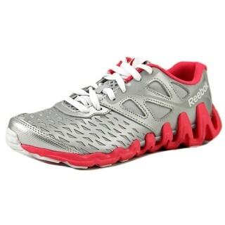 Reebok Zigtech Big N Tough Youth Round Toe Synthetic Silver Running Shoe
